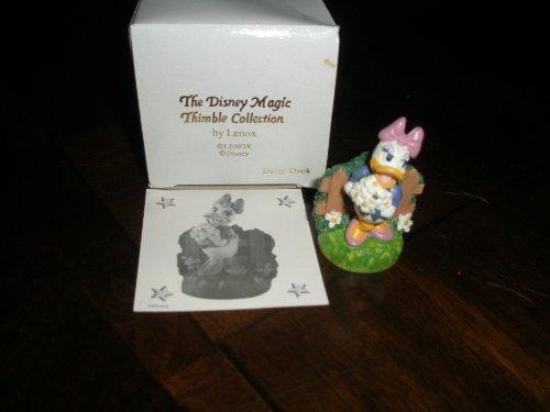 Thimble Lenox Disney - Disney Lenox The Disney Magic Thimble Collection Daisy Duck Figurine