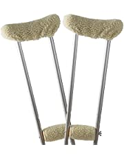 DMI Crutch Pads Fleece Underarm and Hand Grip Covers with Soft, Comfortable Cushioning, Ivory