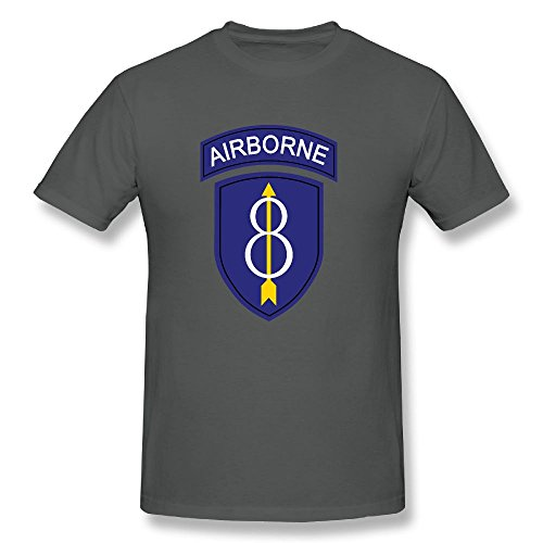 US 8th Airborne Infantry Division Mens Short Sleeve Shirts Graphic T Shirts ()