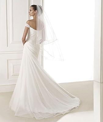 Top-Sexy 2M/3M/5M/10M Bling Diamonds Lined Wedding Bridal Veil 07