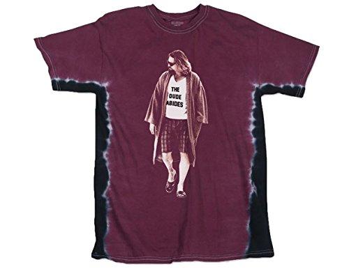 Ripple Junction Big Lebowski Adult Unisex Dude Wearing Abide Shirt Light Weight 100% Cotton Crew Tie-Dye T-Shirt 2XL Maroon Tie Dye]()