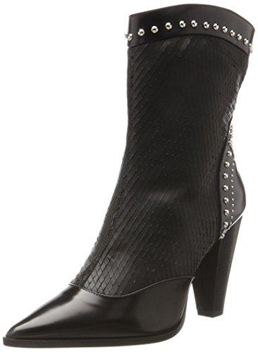 Oxitaly Ladies Silive 338 Stivali Da Cowboy Neri (nero)