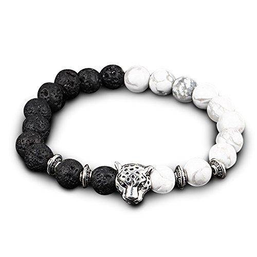 UHIBROS Natural Gemstone Bracelet Leopard