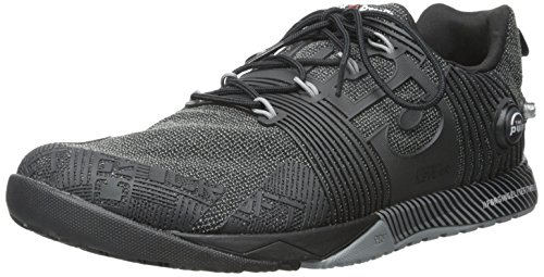Reebok Men's Crossfit Nano Pump Fs Cross-Trainer Shoe, Black/Flat Grey, 8.5 D US