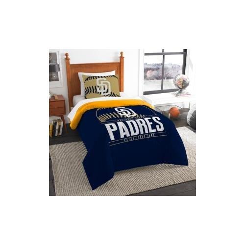 The Northwest Co mpany MLB San Diego Padres Grandslam Twin 2-piece Comforter Set (San Diego Padres Bedding)