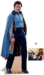 Fan Pack - Lando Calrissian from Star Wars Lifesize Cardboard Cutout / Standee / Standup- Includes 8x10 Star Photo