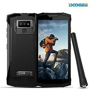 DOOGEE S80 Rugged Smatphone Unlocked Android 8.1 – Outdoor Walkie Talkie Phones 4G – 10080mAh 5.99 FHD+ Screen 6GB RAM+64GB ROM 16MP+5MP+12MP Camera NFC – Waterproof Unlocked Cell Phones – Black