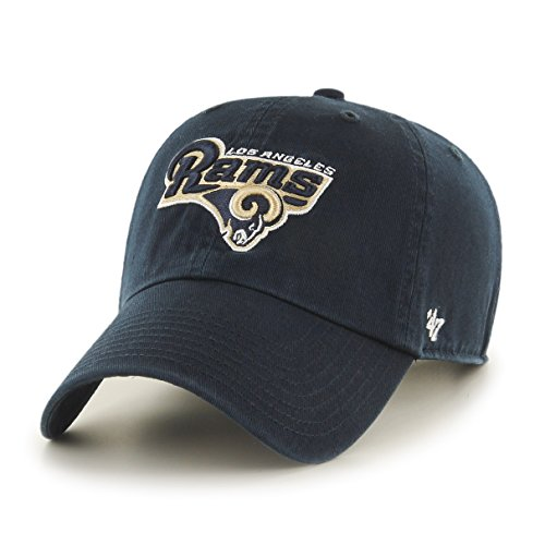 NFL Los Angeles Rams Clean Up Adjustable Hat, Navy, One Size