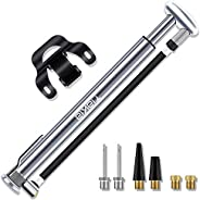 Tiakia Bike Pump, Bicycle Pump Mini High Pressure 210 PSI - Fits Schrader/Presta/Woods Valve Fast Inflat, Comp