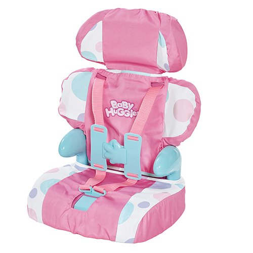 Doll Swing (Cadson Car Seat and Booster with Seatbelt for Dolls and Stuffed Animals - Bring Your Favorite Friend for a Ride, Pretend Play Toy, Plush Travel, Pink, 13 Inches)