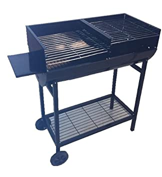Yard, Garden & Outdoor Living Barbecues, Grills & Smokers Half Drum Barrel Bbq Barbeque Portable Outdoor Grill Cooking Garden Patio Party