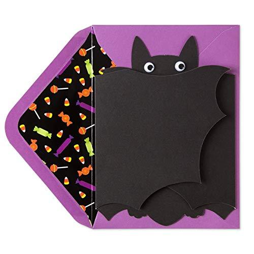 Papyrus Googly Eyed Bat Halloween Card
