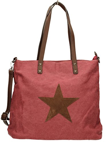 Canvas Medium Bag Lauren Red Womens Star SWANKYSWANS Shoulder Burgundy qI4Utt