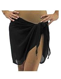 Dobelove Semi Sheer Short Sarong Bathing Wrap Swimsuit Cover Up