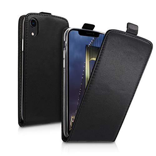 kwmobile Vertical Flip Case for Apple iPhone XR - PU Leather Protective Flip Cover with Magnet - -