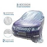 VViViD Universal Clear Plastic Disposable Sedan-Sized Car Cover w/Elastic Band