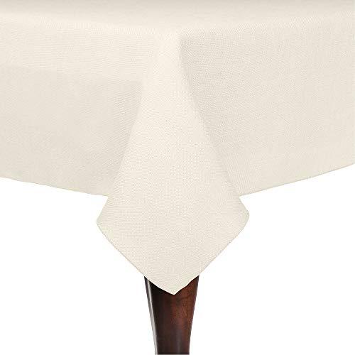 Ultimate Textile Faux Burlap - Havana 60 x 120-Inch Rectangular Tablecloth - Basket Weave, Ivory Cream