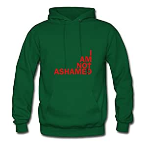 Comfortable Designed Green Women I Am Not Ashamed Red Regular Hoody X-large