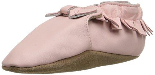 Robeez Maggie Moccasin Crib Shoe , Pink, 6-12 Months M US Infant