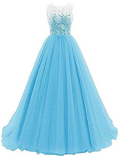 Clair D'honneur Mousseline Soie Filles Demoiselles 116 134 Dentelle 164 Princesse Bleu Robes Formelles Mariage En Mariée 128 De 140 152 Robe Pour 7nx1Yq