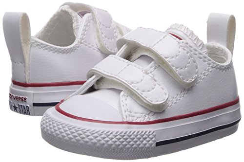 Converse Girl's Chuck Taylor All Star 2V Leather Low Top Shoe, White, 4 M US Toddler by Converse (Image #6)