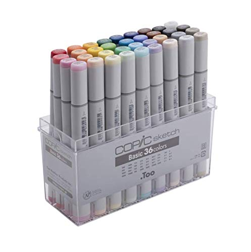 (Copic Sketch Marker 36 Piece Sketch Basic Set )