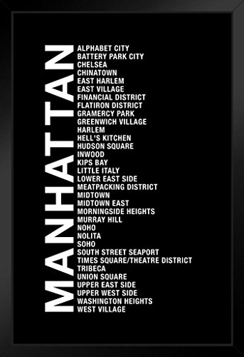 ProFrames Neighborhoods Manhattan NYC New York City Chelsea Harlem Tribecca Time Square SOHO Framed Poster - District Nyc Soho