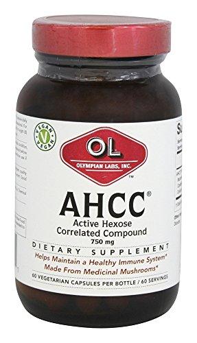 Olympian Labs - AHCC Active Hexose En corrélation composé de 750 mg. - 60 Capsules