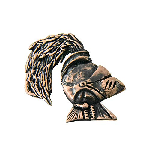 (Creative Pewter Designs Knight Helmet Copper Plated Lapel Pin, Brooch, Jewelry, GC008)