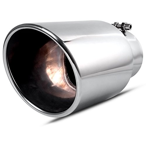 4 Inch Inlet Chrome Exhaust Tip, AUTOSAVER88 4