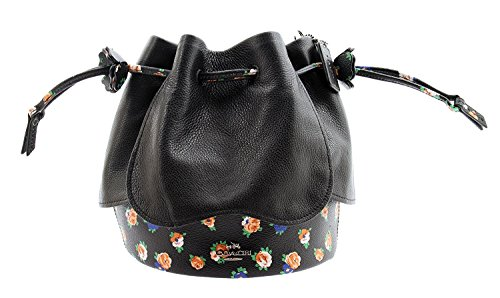 Mix Black Printed F57544 Leather Bag COACH Crossbody Petal Floral g8w5nq16