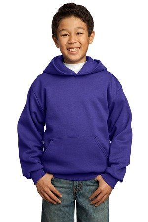 Port and Company Youth Pullover Hooded Sweatshirt, Purple, Large (14-16) by Port & Company