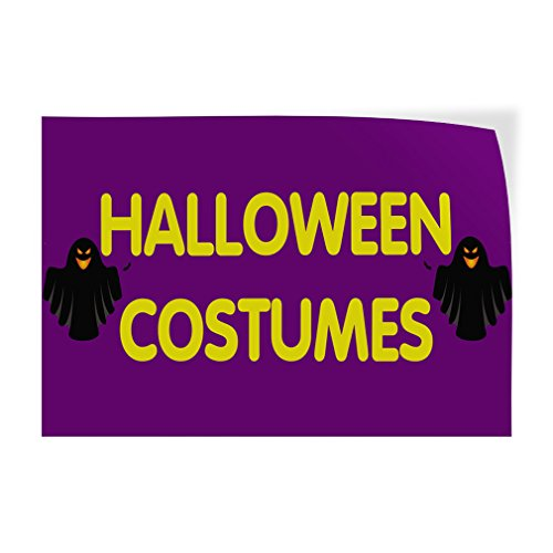 (Decal Sticker Multiple Sizes Halloween Costumes #1 Style B Holidays and Occasions Holloween Outdoor Store Sign Lavender - 10inx7in, Set of)