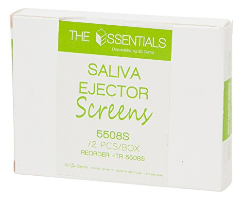 3D Dental TR-5508S Saliva Ejector Screens (Pack of 72)