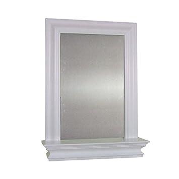 Kingston Wall Mounted White Bathroom Mirror And Storage Shelf Part 41