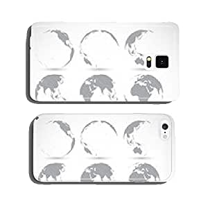 Set of globe icons vector illustration cell phone cover case Samsung S6