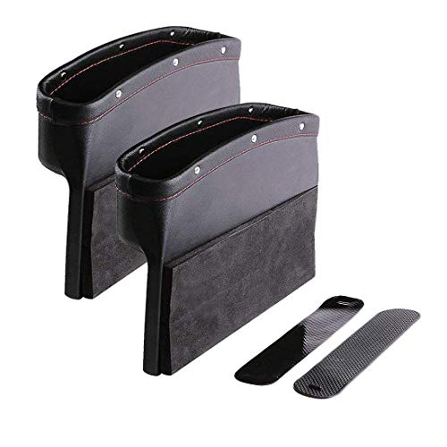 Henzxi Car Seat Pockets Car Console Side Organizer Pack of 2 for Cellphone Wallet Coin Key