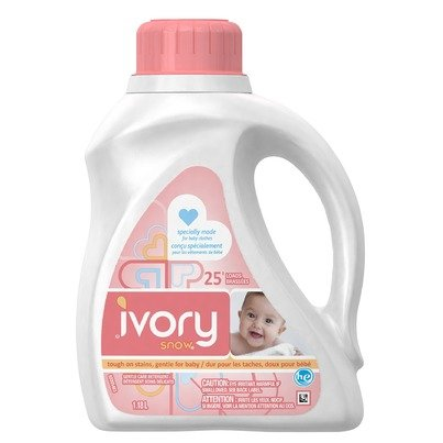 Ivory Snow Liquid Detergent 40oz Stage 1 Newborn Pack (2)