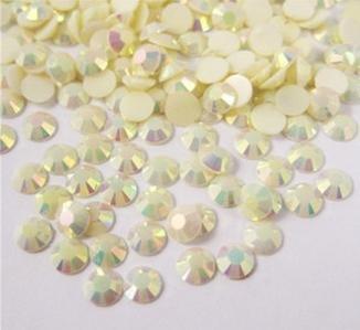 5Mm 500Pcs Multicolor Ab Flatback Resin Rhinestones  Cream Ab