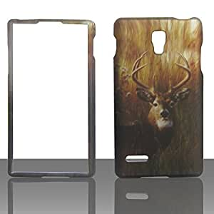 2D Buck Deer LG Optimus L9 P769 / T-Mobile Pre-Paid Case Cover Hard Phone Snap on Cover Case Protector Faceplates