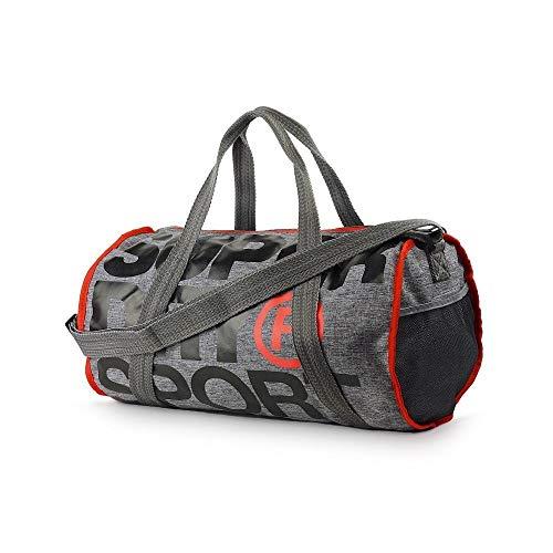 SUPERDRY XL Sports Barrel Bag Grey Marl Duffel bag, Gym bag, Travel bag, MS4001MR-07Q by Superdry