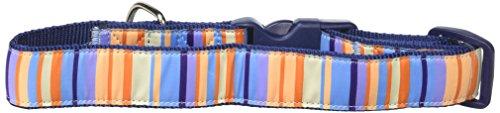 - La Petrick Basic Ribbon Orange Vertical Stripes Collar, Large