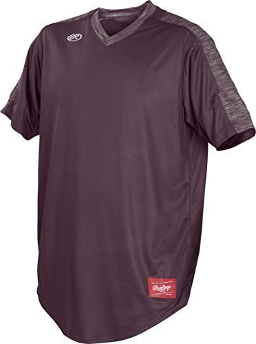 Rawlings Youth Team Jackets - Rawlings Launch Series Youth V-Neck Jersey, Maroon, Small