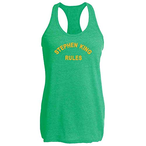 Stephen King Rules Horror Movie Funny Costume Heather Kelly L Fashion Tank Top Tee for Women