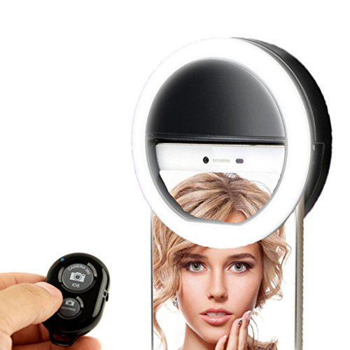 KobraTech Selfie Ring Light - LED Fill Light for Any Smartphone - MiLite - Includes Bluetooth Remote Shutter (Electronics Remote Strobe Kit)