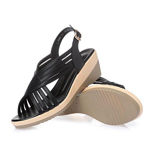 nbsp;Un verano de Black par tacón con de sandalias de Ronda; Sandalias 4qITZ1wxgw
