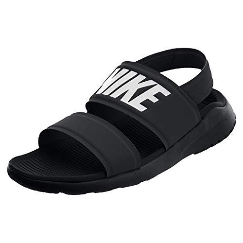 Nike Tanjun Sandal Womens, Black/White, Size 9.0