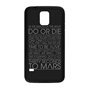 Cute Panda Custom-Protective Samsung Galaxy S5 Rubber Case 30 Seconds To Mars Back Case for Samsung Galaxy S5 by mcsharks