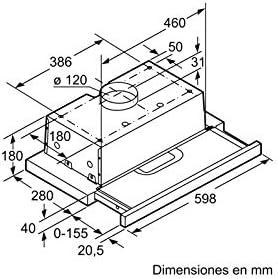 Balay 3BT262MB - Campana (300 m³/h, Canalizado/Recirculación, E, D ...