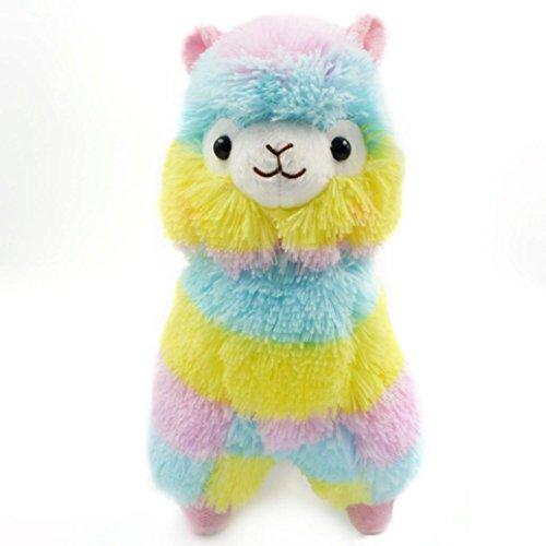 Plush Toy, Staron Rainbow Alpaca Doll Colorful Alpaca Llama Soft Baby Stuffed Animal Plush Puppet Doll Toys Gift for Birthday / Christmas / Valentine's Day / Wedding Anniversary, 13cm (Alpaca❤️) (Puppet Toy Stuffed)